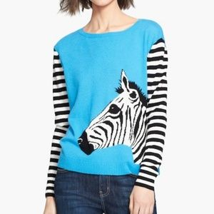 Autumn Cashmere Zebra Sweater size Large